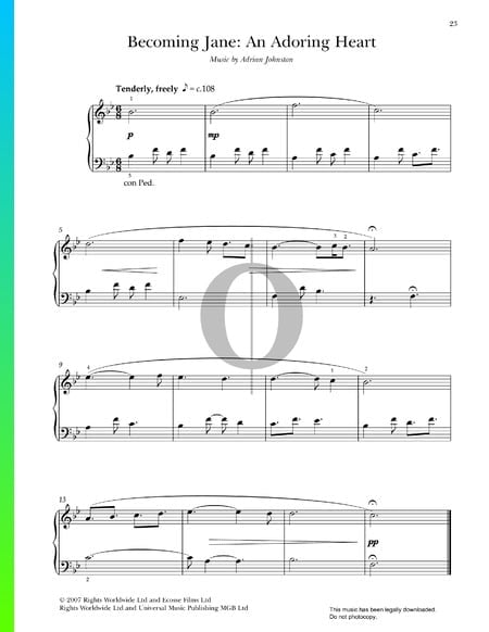 An Adoring Heart Sheet Music