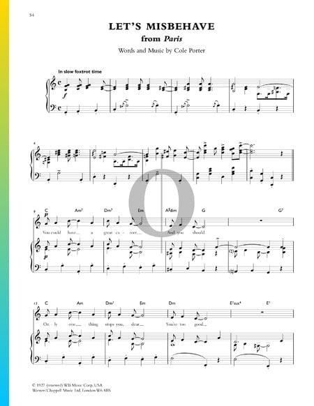 Let's Misbehave Musik-Noten