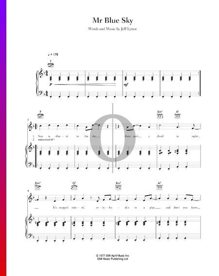Mr Blue Sky Sheet Music