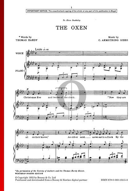 The Oxen Sheet Music