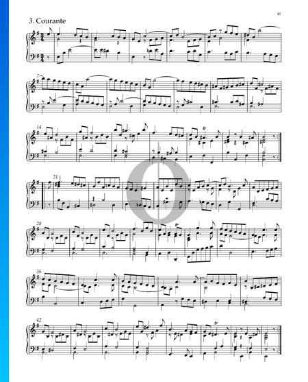 Suite Nr. 4 e-Moll, HWV 429: 3. Courante Musik-Noten
