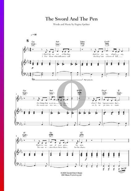 The Sword & The Pen Musik-Noten