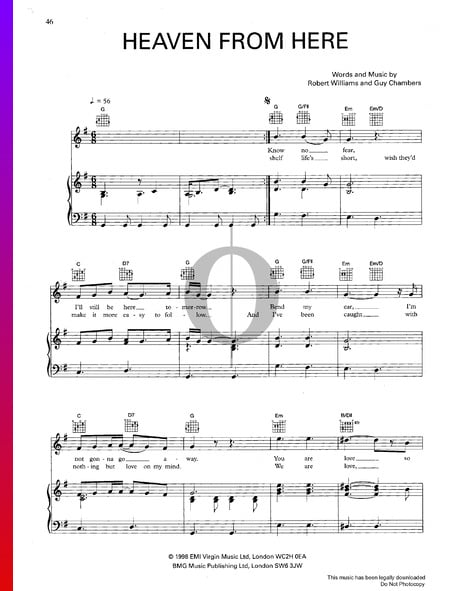 Heaven From Here Sheet Music