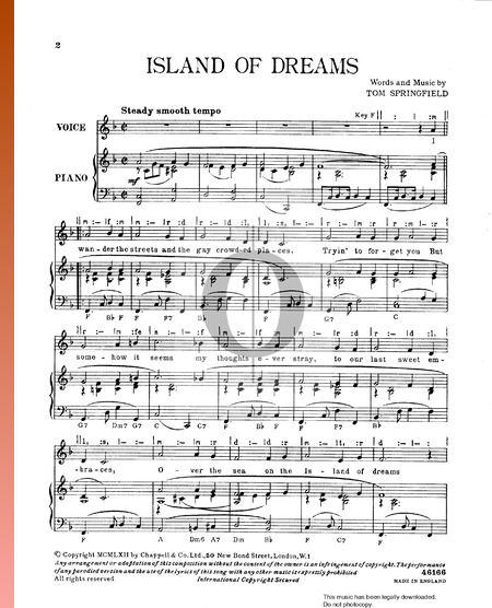 Island Of Dreams Musik-Noten