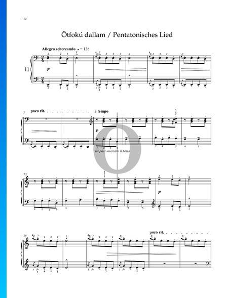 Für Kinder, Sz. 42 Vol. 1: Nr. 29 Pentatonisches Lied Musik-Noten