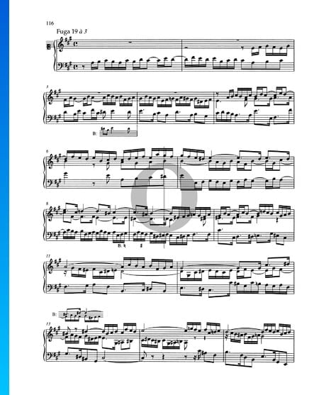 Fugue A Major, BWV 888 Sheet Music