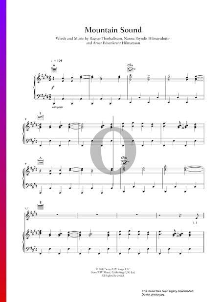 Mountain Sound Musik-Noten
