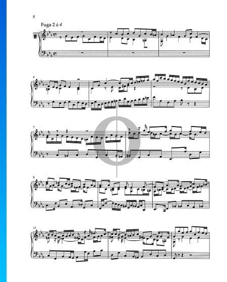 Fuga en do menor, BWV 871 Partitura