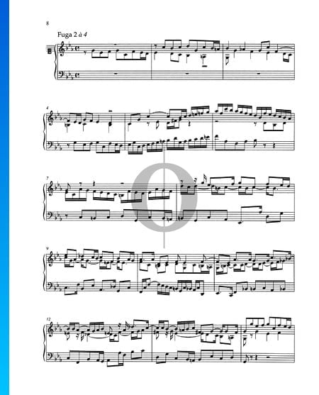Fugue C Minor, BWV 871 Sheet Music