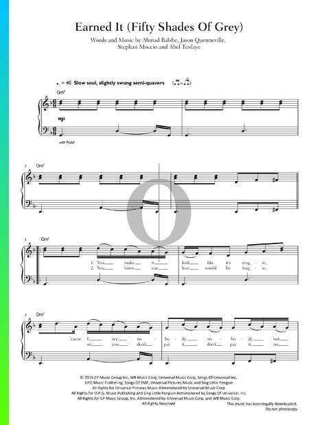 Earned It Musik-Noten