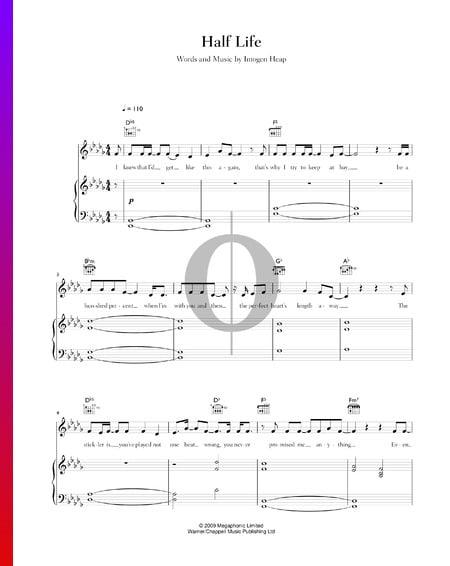 Half Life Musik-Noten