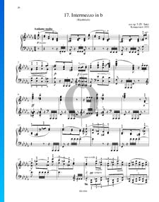 Intermezzo en Si bémol mineur, from Op. 5 Mvmt. IV