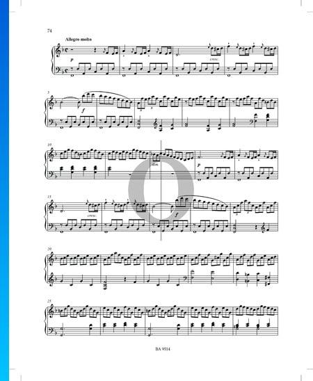 Sonata en fa mayor n.º 2, Op. 53 P. XII: 42: 2. Allegro molto Partitura