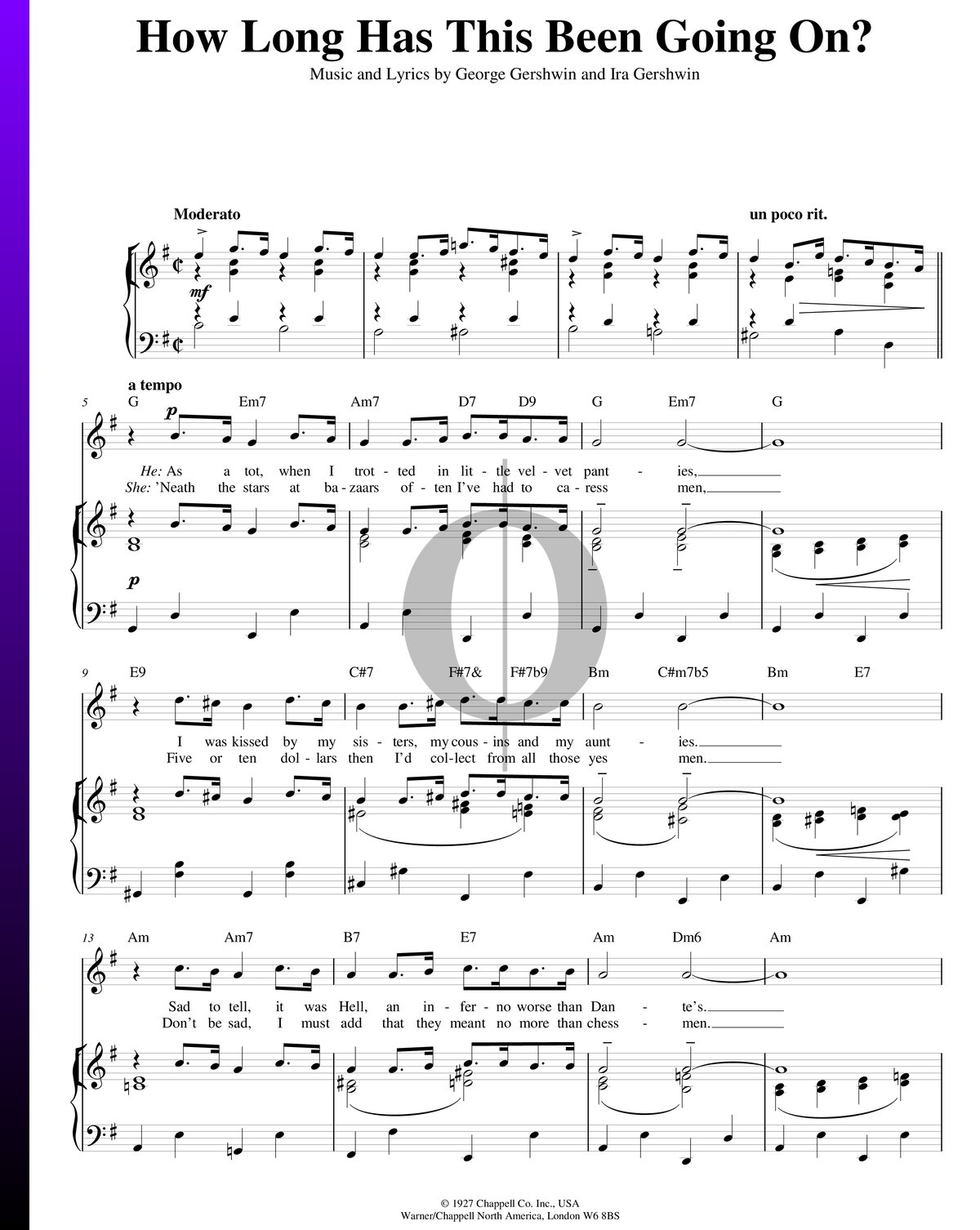 ▷ how long has this been going on? sheet music (piano, voice, guitar) - pdf  download & streaming - oktav  oktav