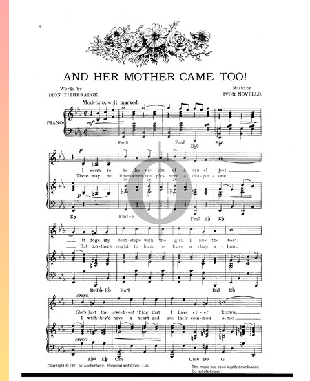 And Her Mother Came Too! Sheet Music