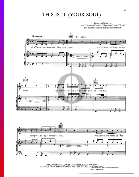 This Is It (Your Soul) Sheet Music