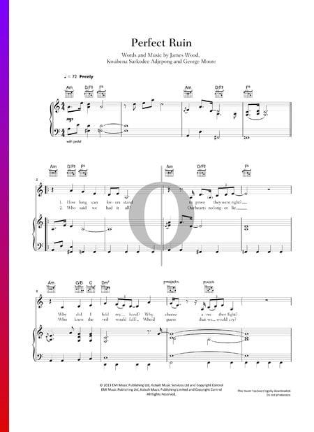 Perfect Ruin Musik-Noten