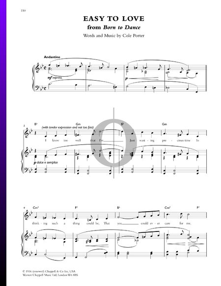 Easy To Love Sheet Music