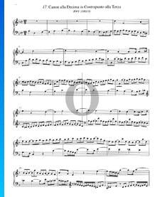 Canon alla Decima in Contrapunto alla Terza, BWV 1080/16