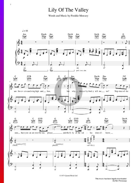 Lily Of The Valley Sheet Music