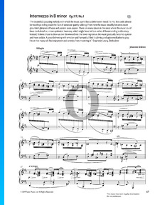 Intermezzo h-Moll, Op. 119 Nr. 1