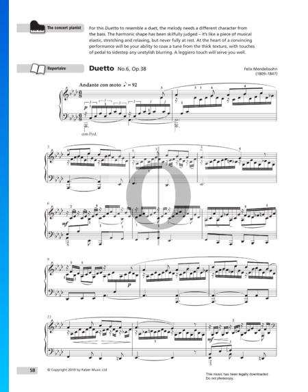 Duetto, Op. 38 No. 6 Sheet Music