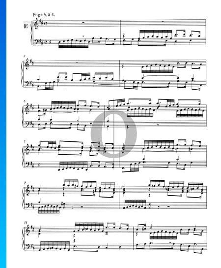 Fuge 5 D-Dur, BWV 850 Musik-Noten