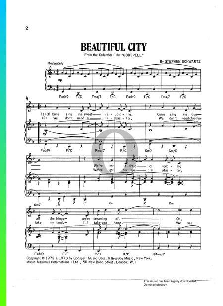 Beautiful City Sheet Music