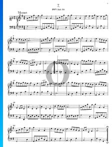 Minueto en sol mayor, BWV Anh. 116