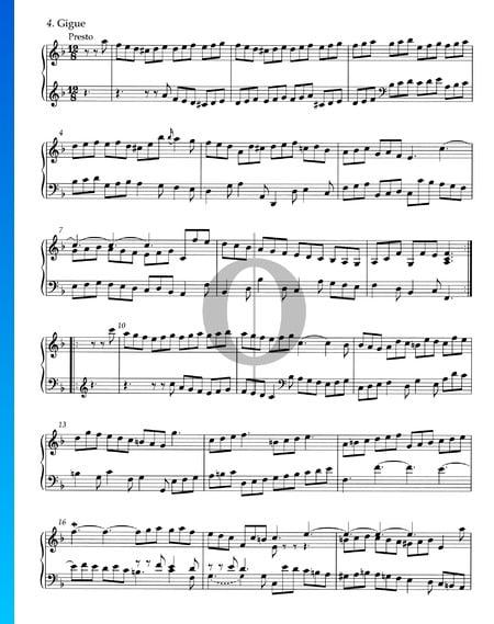 Suite d-Moll, HWV 436: 4. Gigue Musik-Noten