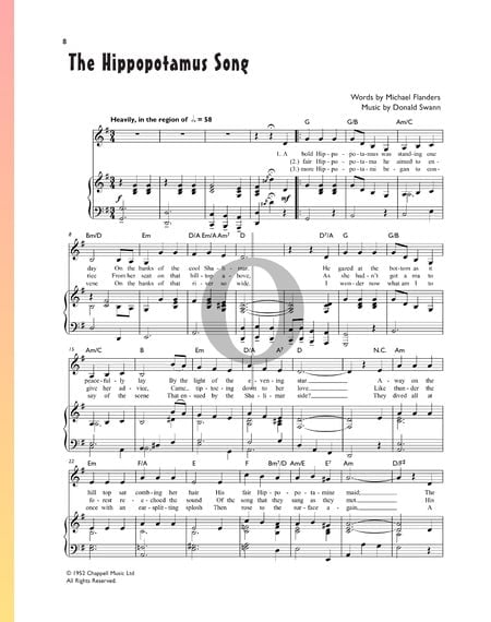The Hippopotamus Song Sheet Music