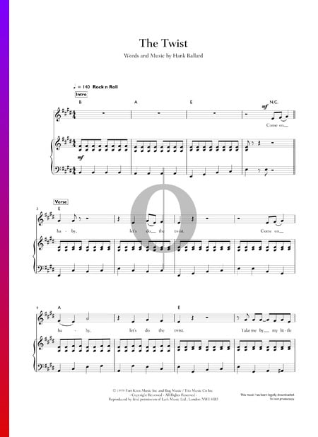 The Twist Musik-Noten