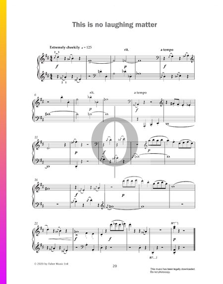 This Is No Laughing Matter Sheet Music