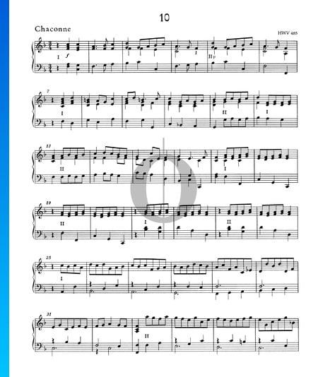 Chaconne F Major, HWV 485 Sheet Music