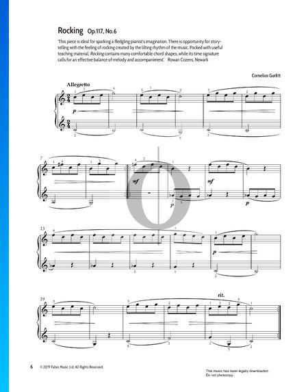 Rocking, Op.117 No.6 Partitura