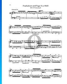 Prelude E Minor, BWV 879