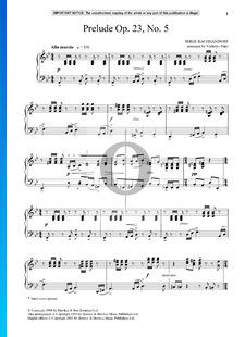 Prélude g-Moll, Op. 23 Nr. 5