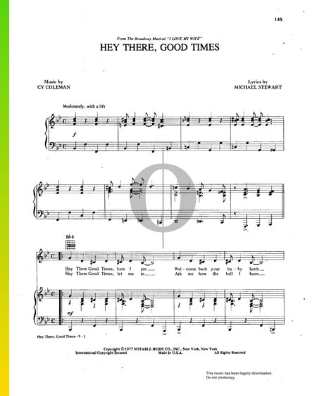 Hey There, Good Times Musik-Noten