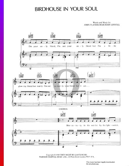 Birdhouse In Your Soul Sheet Music
