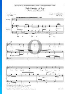 Fair House Of Joy, Op. 12 No. 7