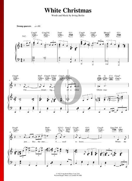 White Christmas Musik-Noten