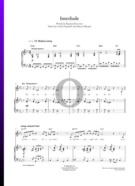 Interlude Sheet Music