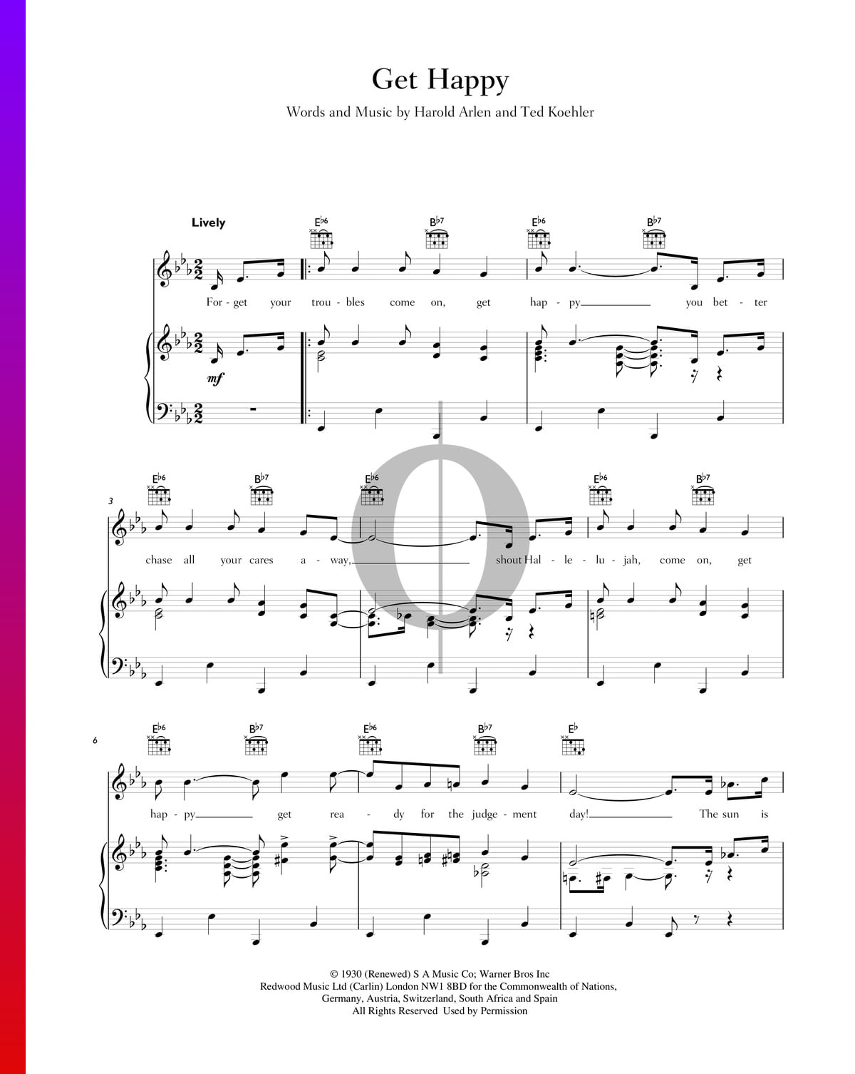 somewhere over the rainbow judy garland sheet music pdf