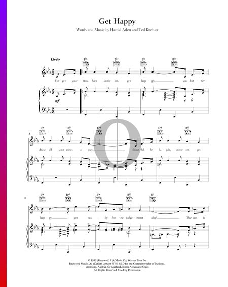 Get Happy Sheet Music