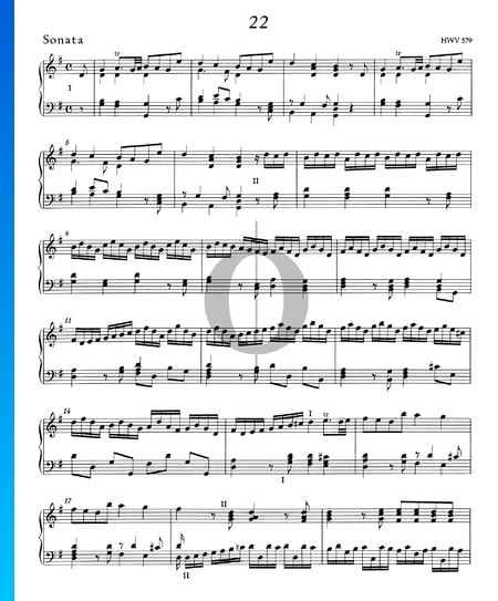 Sonata G Major, HWV 579 Sheet Music