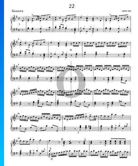 Sonate en Sol Majeur, HWV 579 Partition