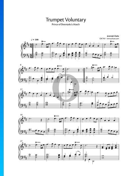 Trumpet Voluntary Musik-Noten