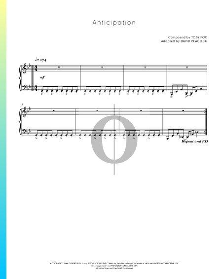 Anticipation Musik-Noten