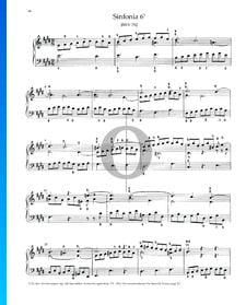Sinfonia 6, BWV 792