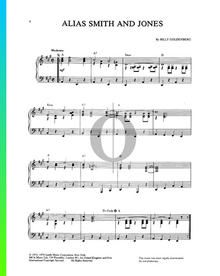 Alias Smith And Jones Sheet Music